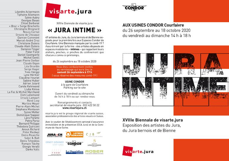 Einladung zur 18. Biennale von visarte.jura